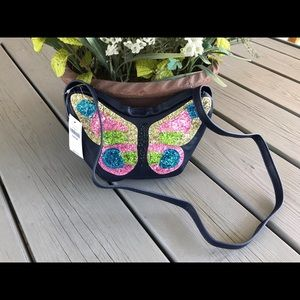 Glittery Graphic Butterfly Bag - NEW! 💕